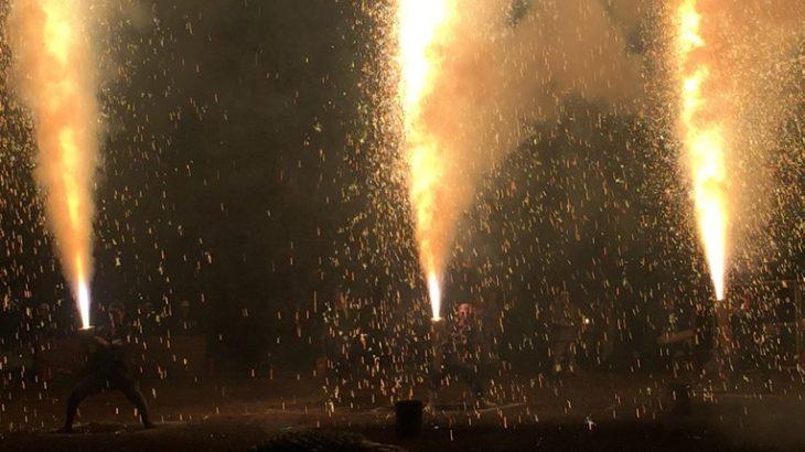 【豊橋祗園祭2015】手筒花火がまるで火のシャワーのようでした!