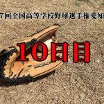 【第97回全国高等学校野球選手権愛知大会10日目】東三河勢の結果と予定