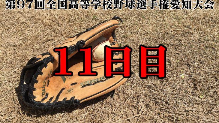 【第97回全国高等学校野球選手権愛知大会11日目】東三河勢の結果と予定