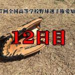 【第97回全国高等学校野球選手権愛知大会12日目】東三河勢の結果と予定
